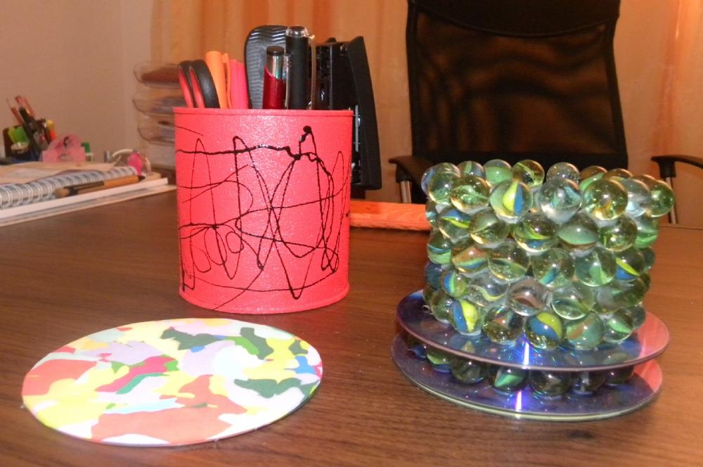 Garrafas de vidro recicladas transformadas em decorao