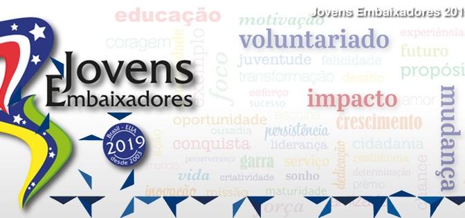 Resultado de imagem para Programa Jovens Embaixadores recebe inscrições até o próximo domingo (11)