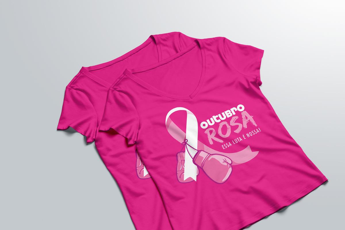 93ef288e8 Camisa simboliza a luta de milhares de brasileiras contra o câncer de mama  (Foto  divulgação)