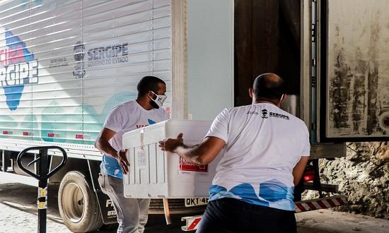 Vacinas: 23 mil doses da CoronaVac são enviadas aos municípios de SE