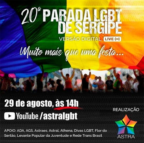 Parada LGBT de Sergipe será on-line e acontecerá neste domingo, 29