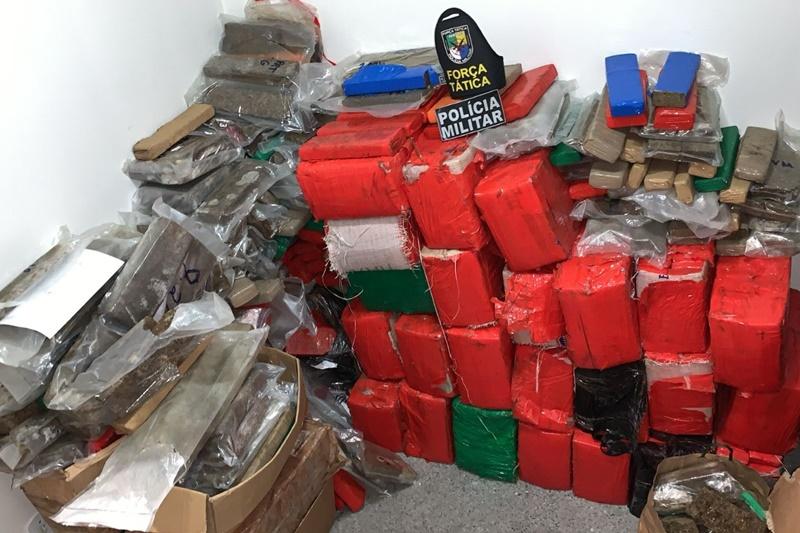 Polícia apreende mais de uma tonelada de maconha na Zona de Expansão